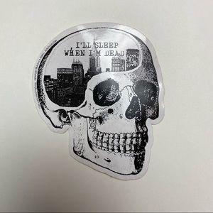 BUNDLE ADD ON Skull Graphic Sticker Decal I'll Sleep When I'm Dead
